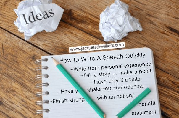 Write a quick speech